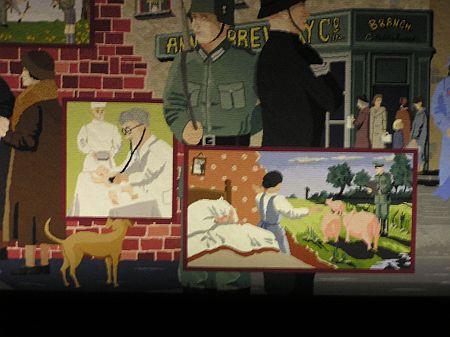 Wandtapijt over Tweede Wereldoorlog