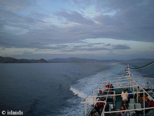Veerboot bij eiland Kos