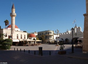 Het marktplein van Kos-Stad