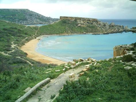 Ghajn Tuffieha Bay Malta