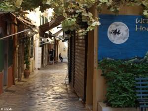 Straatje in Korfoe-Stad