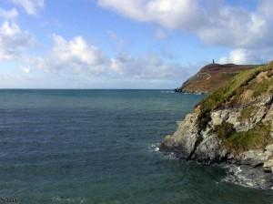 De kust van eiland Man bij Port Erin