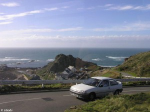 De kustweg van Jersey