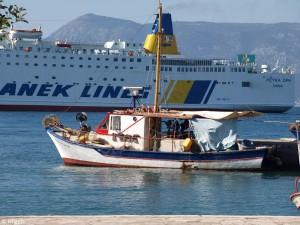 De haven van Korfoe-Stad