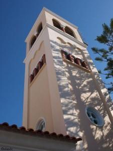 Kerktoren in Kos-Stad