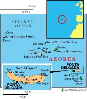 boten tussen de eilanden van de azoren