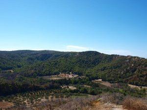 Het landschap van Rhodos