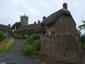 Een straatje in Godshill