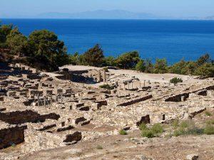 De antieke stad Kamiros