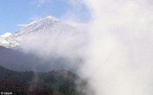 Wolkenwand op Tenerife