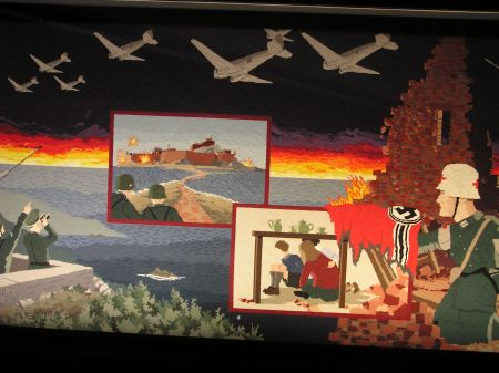 Wandtapijt in de Occupation Tapestry Gallery