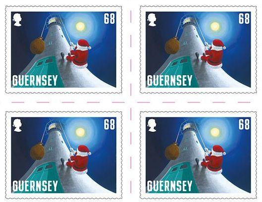 Kerstzegels Guernsey