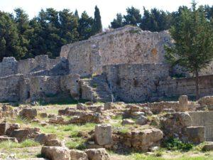 Een archeologische plek op Kos