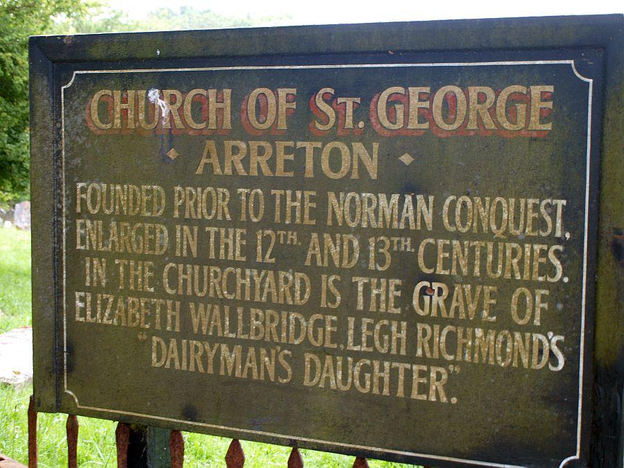 Naambord van het kerkje