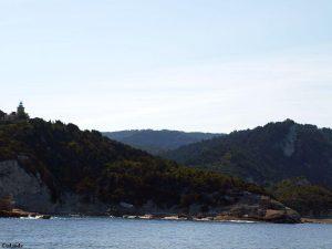 Langs de kust van Korfoe