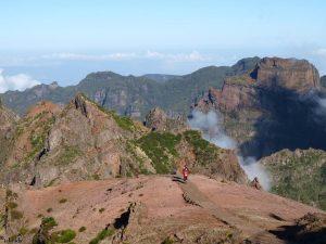 In de bergen van het eiland Madeira