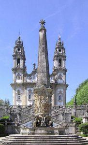 De kerk op de berg in Portugal