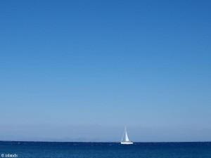 zeilen in het blauw/sailing in blue
