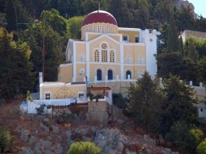 Kerk op eiland Simi/Church on Simi Island