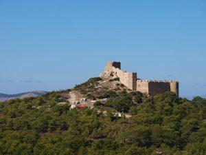 Een ruïne op Rhodos