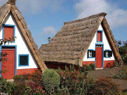 Madeira Häuser in Santana