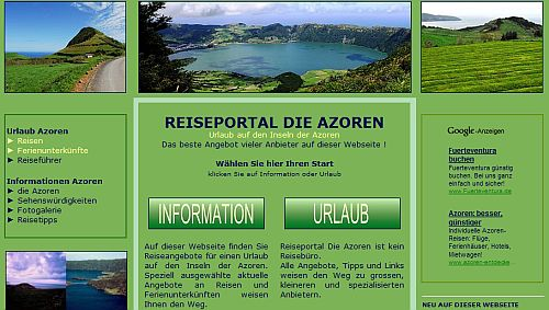 Webseite Azoren - Portugal