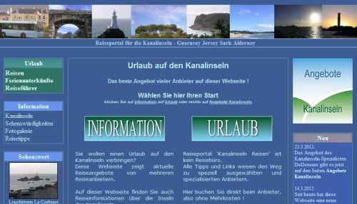 Webseite Kanalinseln