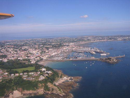 Die Kanalinsel Guernsey