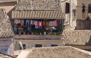 Wäsche-Tag auf Korfu
