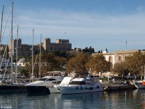 Im Hafen von Rhodos-Stadt