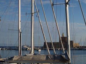 Der Hafen von Rhodos-Stadt