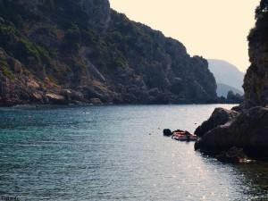 Die Bucht von Paleokastritsa