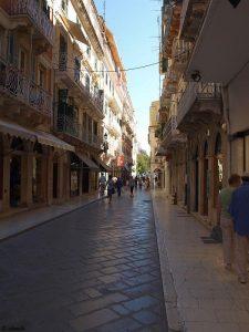 In den Strassen von Korfu-Stadt