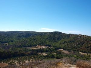 Die Landschaft von Rhodos